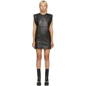 Versace Black Leather Jacket Dress
