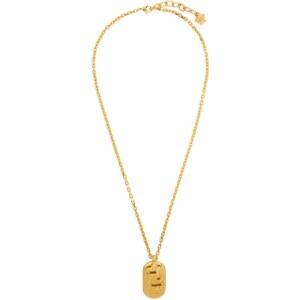 Versace Gold Greca Dogtag Necklace