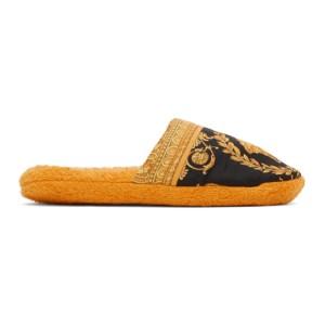 Versace Yellow Baroque Slippers