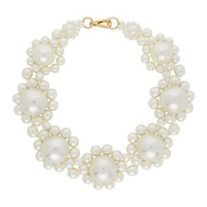 Simone Rocha Off-White Mother-Of-Pearl Daisy Collar