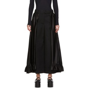Simone Rocha Black Frill Skirt Trousers