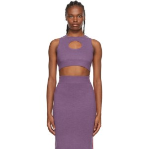 Victor Glemaud Purple and Red Colorblock Tank Top