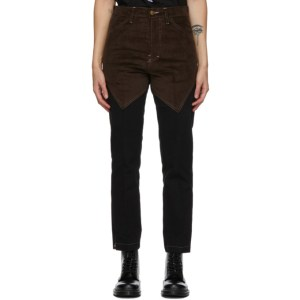 Youths in Balaclava Black and Brown Patchwork Jeans