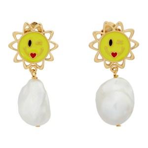 Safsafu Gold Sun Earrings