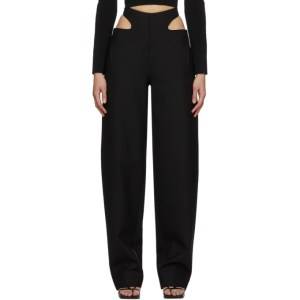 Dion Lee Black Wool Y-Front Trousers