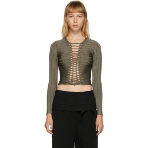 Dion Lee Green Central Braid Top