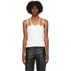 Dion Lee Off-White Double Strap Tank Top