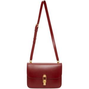 Saint Laurent Red Carre Satchel Bag