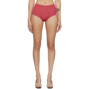 Calle Del Mar Red Knit High-Rise Briefs