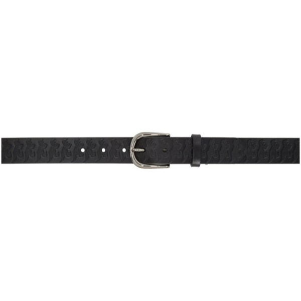 PS by Paul Smith Black Dino-Embossed Belt