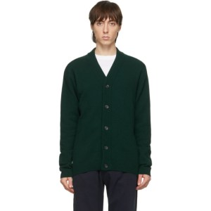 PS by Paul Smith Green Merino Wool Cardigan