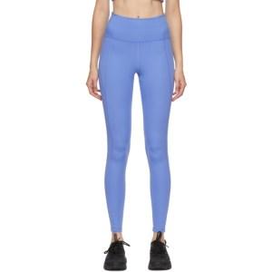 Girlfriend Collective Blue High-Rise Compressive Leggings