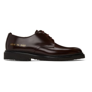 Common Projects Burgundy Standard Derbys