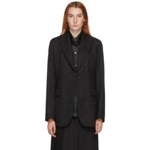 LVIR SSENSE Exclusive Black Wool Tuxedo Blazer