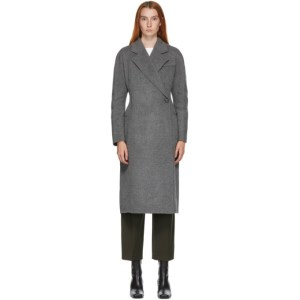 LVIR Grey Wool Handmade One-Button Coat