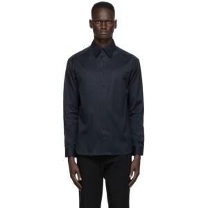 Dunhill Navy Cotton Utility Shirt