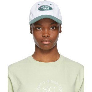 Sporty and Rich White and Green Land Rover Edition Logo Cap