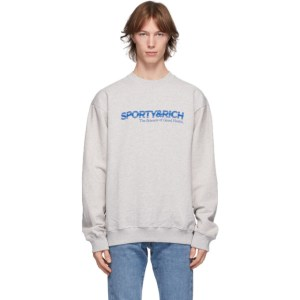 Sporty and Rich Grey The Science of Good Health Sweatshirt