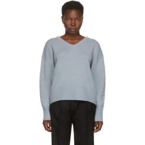 arch4 Blue Cashmere Battersea V-Neck Sweater