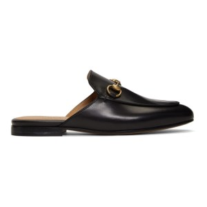 Gucci Black Princetown Slippers