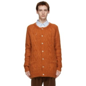 Gucci Orange Mohair GG Cardigan