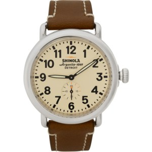 Shinola Silver and Off-White The Runwell 41mm Watch