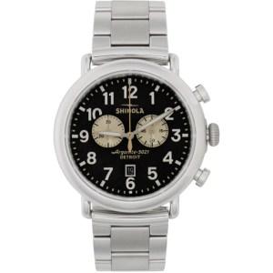 Shinola Silver and Grey The Runwell Chrono 47mm Watch