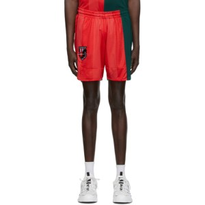 MCQ Red and Green Decon Football Shorts