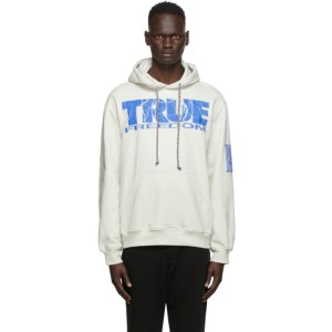 MCQ Off-White True Freedom Relaxed Hoodie