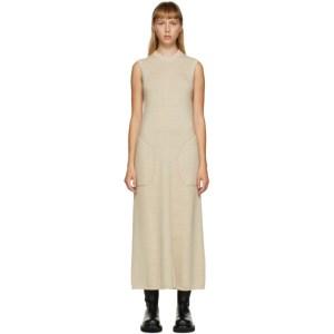 Peter Do Beige Sleeveless Knit Dress