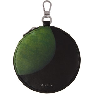 Paul Smith 50th Anniversary Black and Green Apple Circle Zip Wallet
