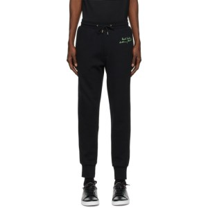 Paul Smith 50th Anniversary Black Elements Spaghetti Lounge Pants