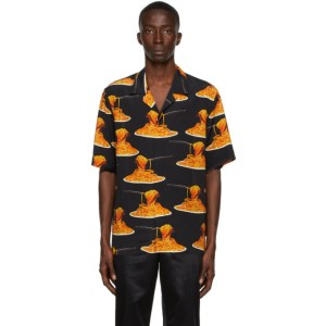Paul Smith 50th Anniversary Black Spaghetti Short Sleeve Shirt