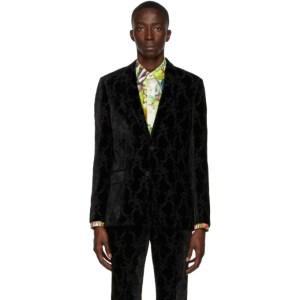 Paul Smith 50th Anniversary Black Velvet Floral Blazer