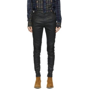 FREI-MUT Black Leather Duchamp Trousers