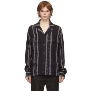 FREI-MUT Purple Recycled Wool Order Shirt