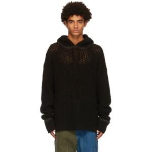 NAMESAKE Black Oversized Knit Elwood Hoodie