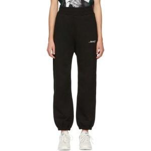 Awake NY SSENSE Exclusive Black Embroidered Logo Lounge Pants