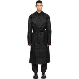 Sean Suen Grey Tweed Coat