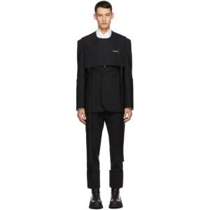 Sean Suen Black Wool Vest