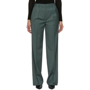 Loulou Studio Green Pleated Trousers