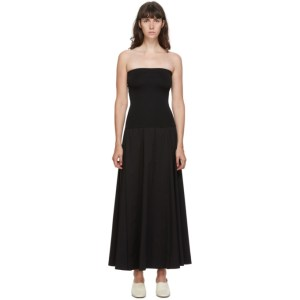 Esse Studios Black Strapless Maxi Dress