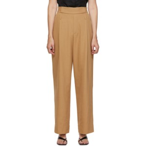 Esse Studios Tan Wide Leg Utility Trousers