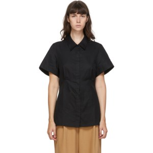 Esse Studios Black Cotton Short Sleeve Shirt