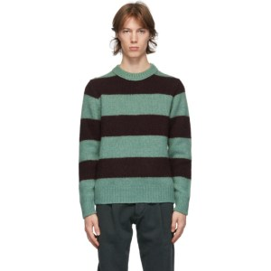 DOPPIAA Green and Burgundy Alpaca Aprica Sweater