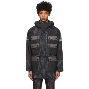 Colmar by White Mountaineering Grey and Black Dyed Pockets Jacket