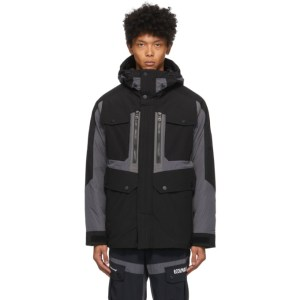 Colmar by White Mountaineering Black and Grey Down Pockets Jacket