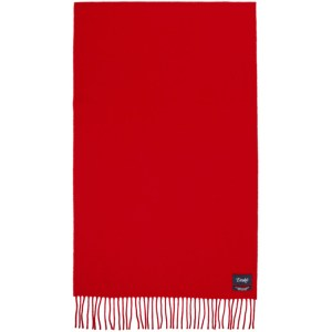 Drakes Red Merino and Cashmere Solid Scarf