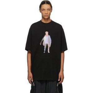 JERIH Black Collage T-Shirt