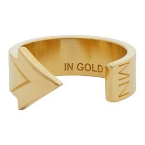 IN GOLD WE TRUST PARIS Gold Arrow Ring